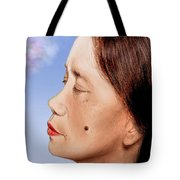 Profile Of A Filipina Beauty With A Mole On Her Cheek Altered Version Tote Bag by Jim Fitzpatrick