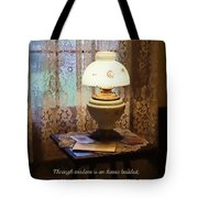 Proverbs 24 3 Through Wisdom Is An House Builded Tote Bag by Susan Savad