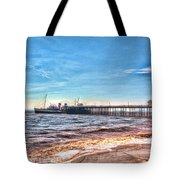 Ps Waverley At Penarth Pier 2 Tote Bag by Steve Purnell