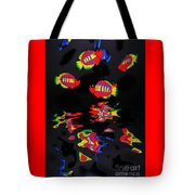 Psychedelic Flying Fish With Psychedelic Reflections Tote Bag by Kaye Menner