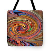 Psychedelic Tote Bag by Kristin Elmquist