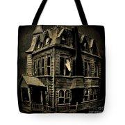 Psycho Mansion Tote Bag by John Malone