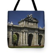 Puerta De Alcala Madrid Spain Tote Bag by Susan Candelario