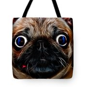 Pug Dog - Electric Tote Bag by Wingsdomain Art and Photography