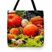 Pumpkin Harvest Tote Bag by Karen Wiles