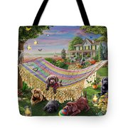 Puppies And Butterflies Tote Bag by Adrian Chesterman