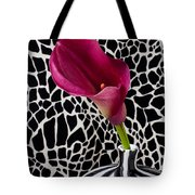Purple Calla Lily Tote Bag by Garry Gay