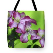 Purple Clematis Tote Bag by Sylvia Cook