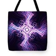 Purple Cross Tote Bag by Anastasiya Malakhova