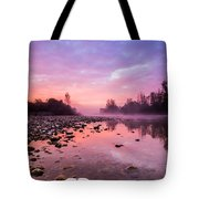 Purple Dawn Tote Bag by Davorin Mance