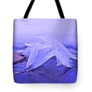Purple Ice Tote Bag by Randi Shenkman