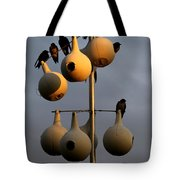 Purple Martin Twilight Tote Bag by Karen Wiles
