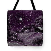 Purple Night Full Moon Tote Bag by Barbara Griffin