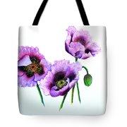 Purple Oriental Poppies Tote Bag by Karin  Dawn Kelshall- Best