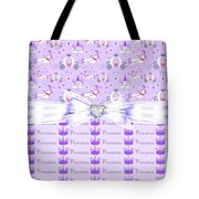 Purple Passion Princess  Tote Bag by Debra  Miller