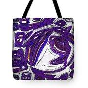 Purple People Eater Tote Bag by Alec Drake