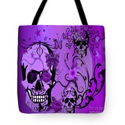 Purple Skulls Tote Bag by M and L Creations