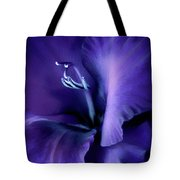 Purple Velvet Gladiolus Flower Tote Bag by Jennie Marie Schell