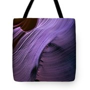 Purple Waves Tote Bag by Mike  Dawson