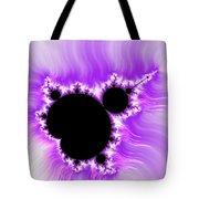 Purple White And Black Mandelbrot Set Digital Art Tote Bag by Matthias Hauser