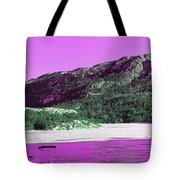 Purple Winter Triptych Tote Bag by Barbara Griffin