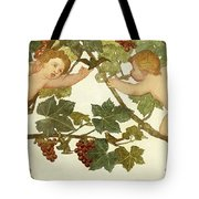 Putti Frolicking In A Vineyard Tote Bag by Phoebe Anna Traquair