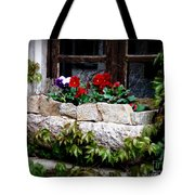 Quaint Stone Planter Tote Bag by Lainie Wrightson