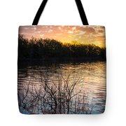 Quanah Parker Lake Sunrise Tote Bag by Inge Johnsson