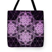 Quantum Snowfall Tote Bag by Jason Padgett