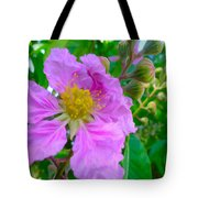 Queen Flower Or Giant Crepe Myrtle Flower Tote Bag by Lanjee Chee