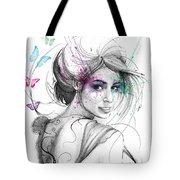 Queen Of Butterflies Tote Bag by Olga Shvartsur