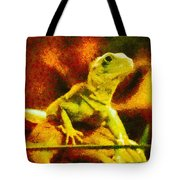 Queen of the Reptiles Tote Bag by Ayse Deniz