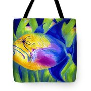 Queen Triggerfish Tote Bag by Stephen Anderson