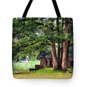 Quiet Park Corner. De Haar Castle Tote Bag by Jenny Rainbow