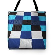Quilt Blue Blocks Tote Bag by Barbara Griffin