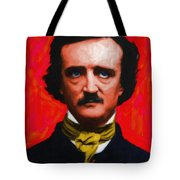 Quoth The Raven Nevermore - Edgar Allan Poe - Painterly Tote Bag by Wingsdomain Art and Photography