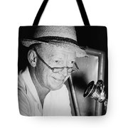 Radio Broadcaster Red Barber 1955 Tote Bag by Mountain Dreams