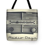 Radio Days Tote Bag by Edward Fielding