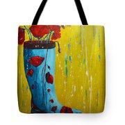 Rain Boot Series Unusual Flower Pots Tote Bag by Patricia Awapara