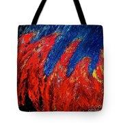 Rain On Fire Tote Bag by Ania M Milo