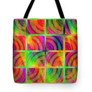 Rainbow Bliss 3 - Over The Rainbow H Tote Bag by Andee Design