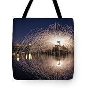 Rainbow Bridge Halo Tote Bag by Lee Harland