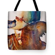 Rainbow Cowboy Tote Bag by Jani Freimann