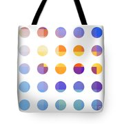 Rainbow Dots  Tote Bag by Pixel Chimp