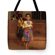 Rainbow Dress. Indian Collection Tote Bag by Jenny Rainbow