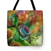 Rainbow Roses Tote Bag by Carol Cavalaris