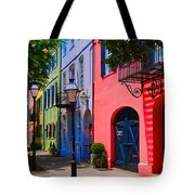 Rainbow Row Charleston Tote Bag by Skip Willits