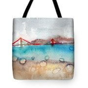 Rainy Day In San Francisco  Tote Bag by Linda Woods