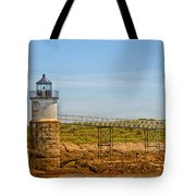 Ram Island Lighthouse Tote Bag by Karol Livote