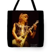 Randy Rhoads At The Cow Palace In San Francisco Tote Bag by Daniel Larsen